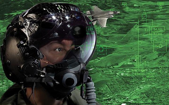 Navy orders night-vision helmet-mounted displays to help combat pilots fly at night