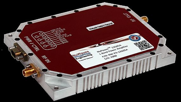Power amplifier for ground and airborne communications and EW uses introduced by NuWaves