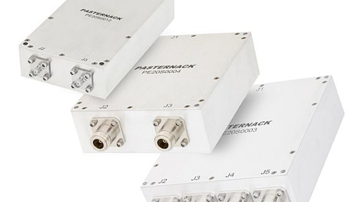Broadband RF power combiners for military RF and microwave uses introduced by Pasternack