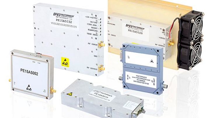 Rugged high-power amplifiers for electronic warfare (EW) and SATCOM introduced by Pasternack
