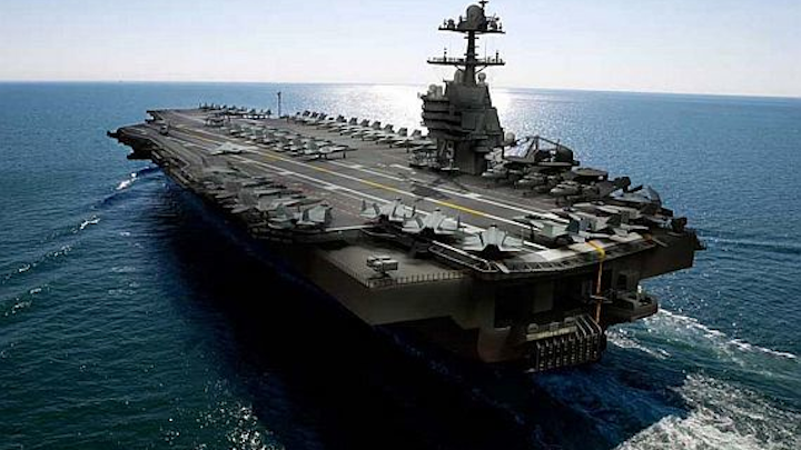 Navy awards $3.4 billion contract to Huntington Ingalls to build Ford-class aircraft carrier