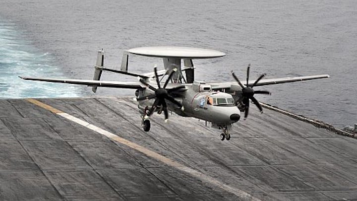 Navy orders one E-2D radar and maritime patrol aircraft from Northrop Grumman in $148.3 million deal