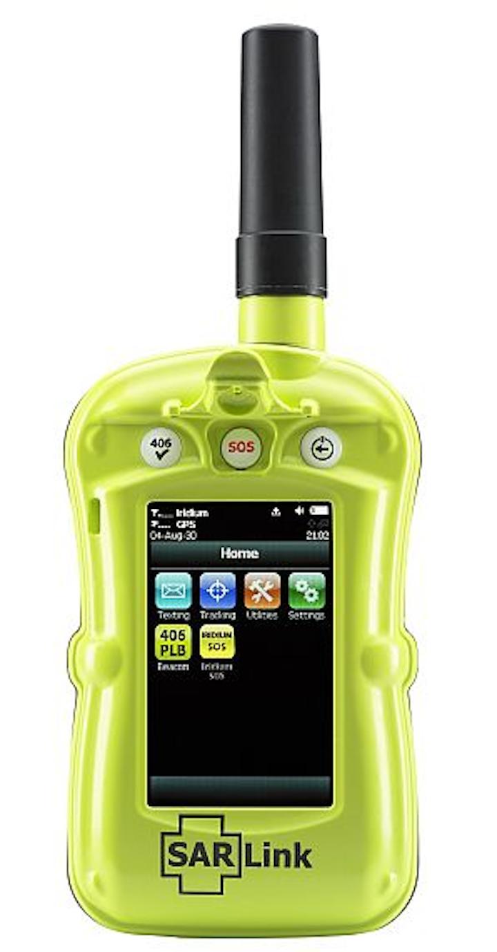 Handheld radio with Iridium, emergency beacon, and blue force