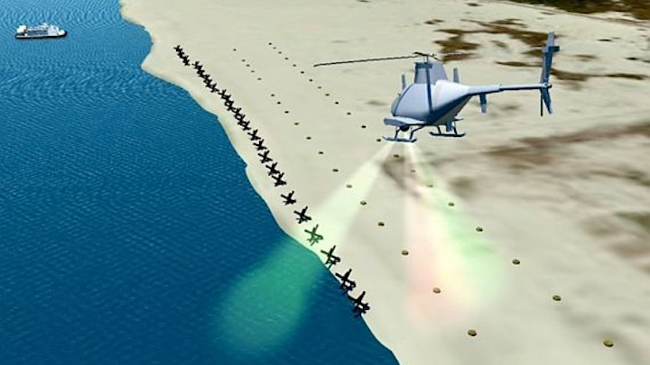 Arete to build electro-optics hyperspectral UAV sensor payload to find mines on invasion beaches