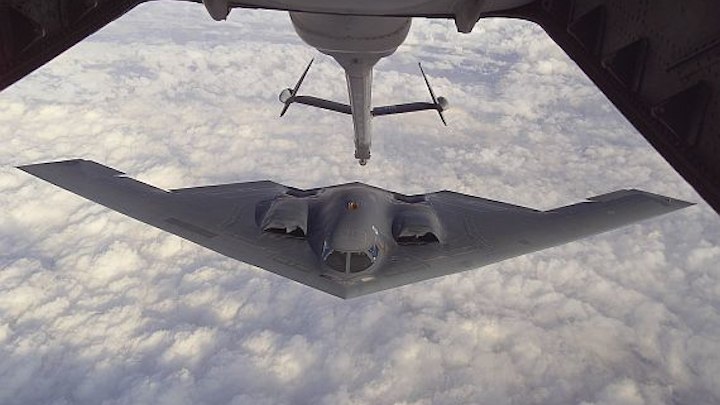Rockwell Collins builds very low frequency (VLF) military communications for B-2 stealth bomber