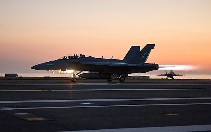 Navy order 12 new F/A-18E and EA-18G carrier based electronic warfare (EW) and bomber combat jets