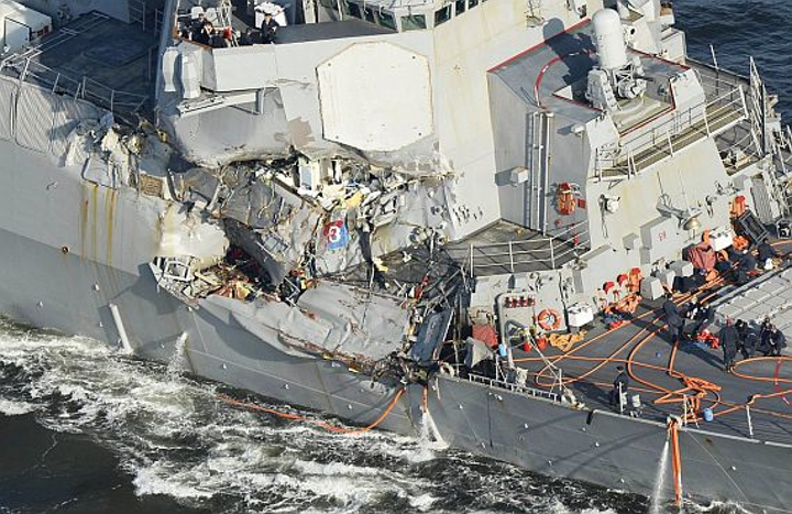 Bills start coming due for last summer's naval ship collisions