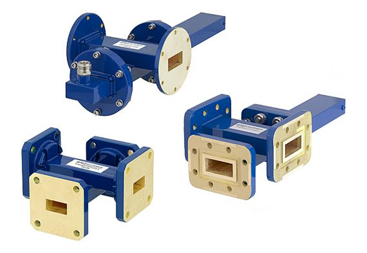 RF and microwave cross guide waveguide couplers for test