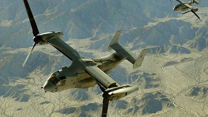Avionics upgrade set for three MV-22 aircraft