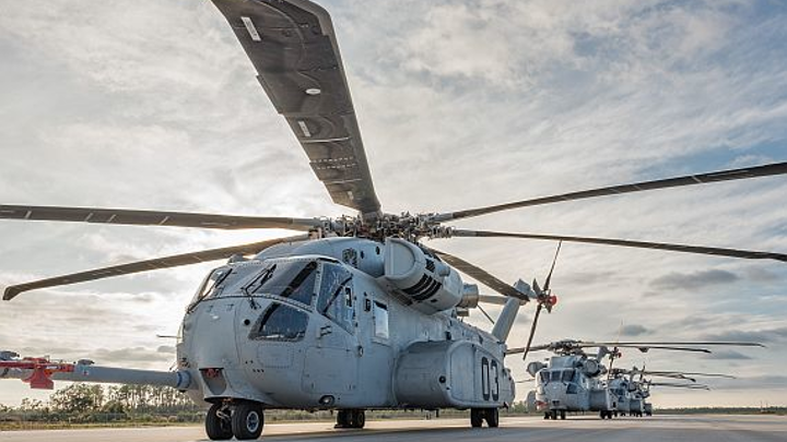 Sikorsky prepares to build seven new CH-53K heavy-lift helicopters and avionics for the Marine Corps