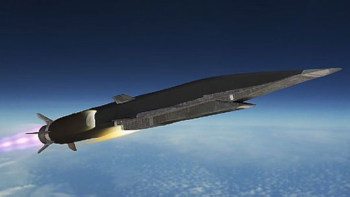 Lockheed Martin hypersonic missile may achieve speeds of 3,800 miles per hour -- or one mile per second