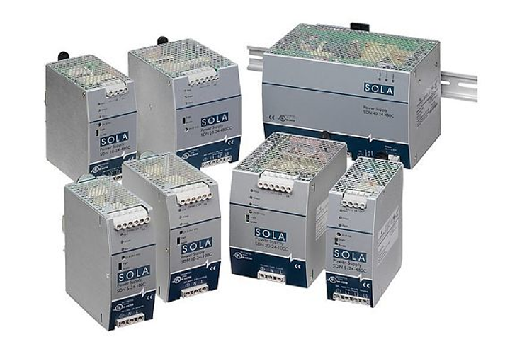 Power supply for factory automation redundant power electronics