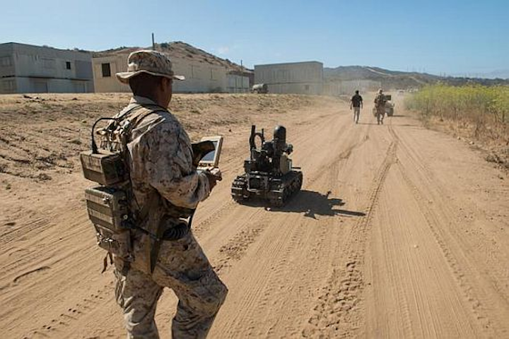 Marines want robot vehicles to carry infantry packs into