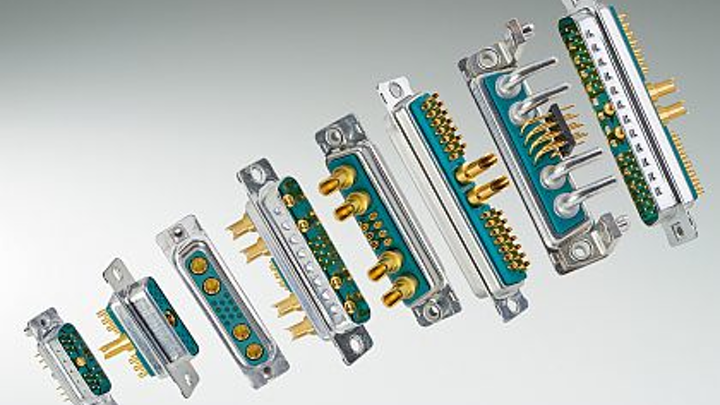 Non-magnetic combination D-subminiature connectors introduced by CONEC for mission-critical use