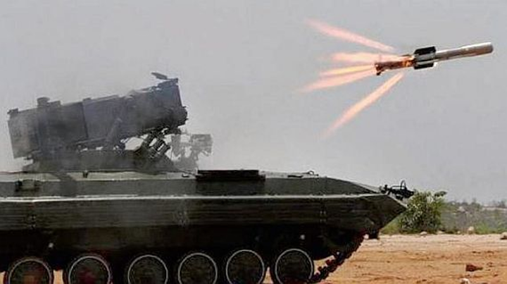 India's Nag third-generation anti-tank guided missile with
