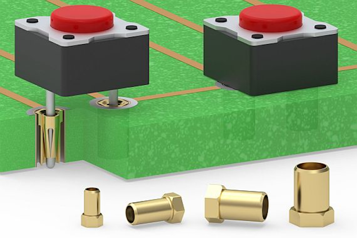 Solderless press-fit receptacles for circuit board interconnects introduced by Mill-Max