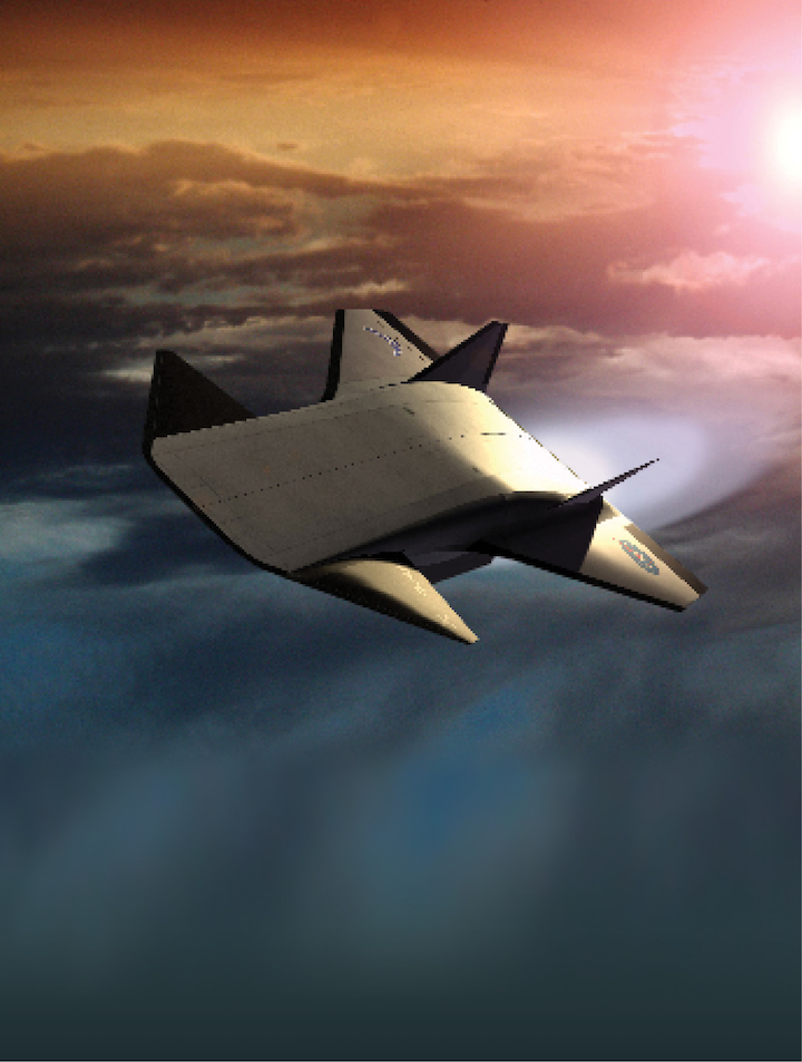 The now-cancelled NASA X-43 experimental unmanned hypersonic aircraft was meant to test various aspects of hypersonic flight, as part of the X-plane series and NASA's Hyper-X program.
