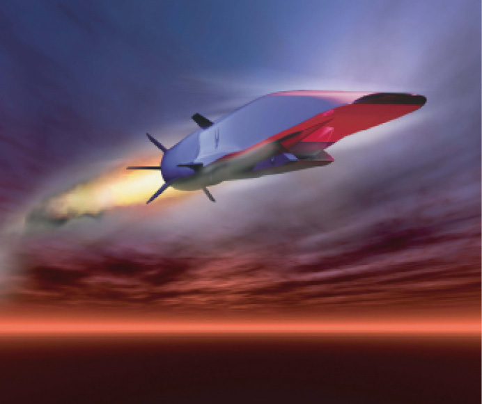 This artist's rendering of the Waverider Scramjet Engine Demonstrator is yielding propulsion technologies that could be used aboard first-generation hypersonic weapons.