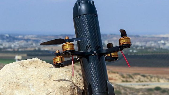 DroneBullet is a kamikaze drone missile that knocks enemy UAVs out of the sky