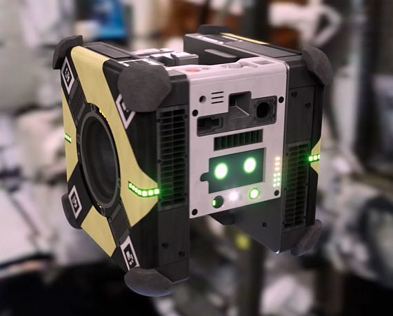 """New robot assistants called """"Astrobees,"""" developed by NASA to assist in the operation of the International Space Station, are equipped with a sizeable payload of cameras and sensors to enable the robotics to navigate the station"""