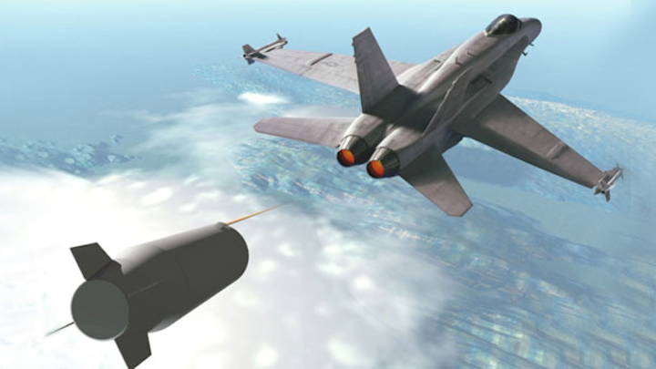 The new BAE Systems dual-band decoy is being designed to replace the ALE-55 decoy, depicted above.