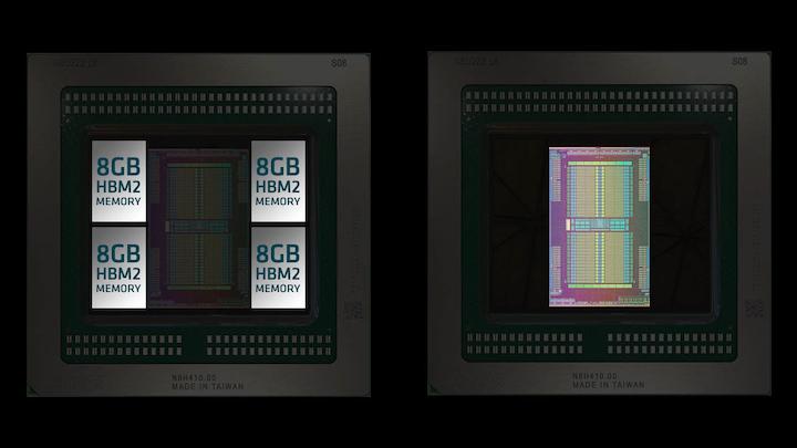 The AMD Radeon Pro Vega II Duo combines two Vega 20 GPUs on one circuit board.