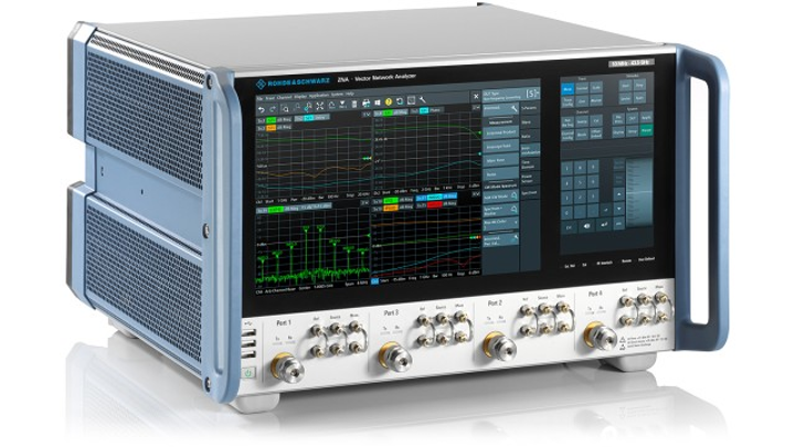 The Rohde & Schwarz ZNA vector network analyzers can test RF and microwave equipment from 10 MHz to 43.5 GHz.