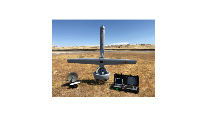 The V-BAT long-endurance vertical-takeoff UAV operates from ships or confined areas using a ducted fan to fly for as long as eight hours with an eight-pound sensor payload.