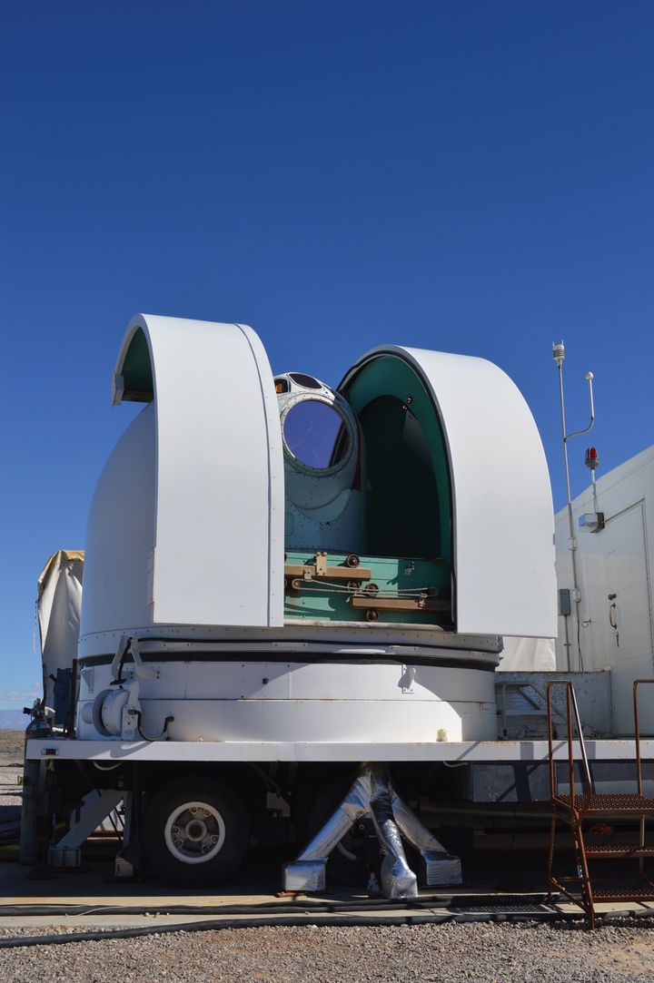 The Demonstrator Laser Weapon System at White Sands Missile Range, N.M., is one example of high energy lasers being developed and tested by the Air Force Research Laboratory.